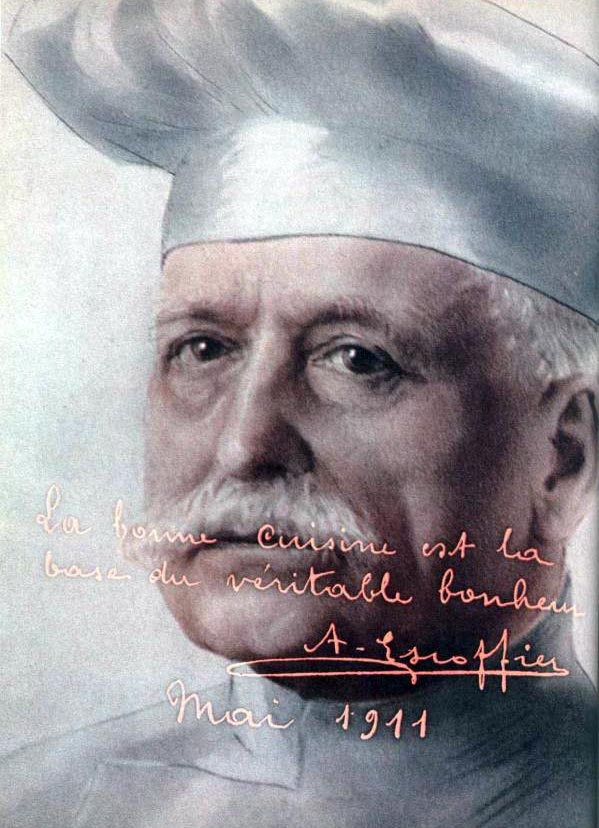 essay on georges auguste escoffier Georges auguste escoffier (french: [ʒɔʁʒ ɔɡyst ɛskɔfje] 28 october 1846 - 12 february 1935) was a french chef, restaurateur and culinary writer who popularized and updated traditional french cooking methods.